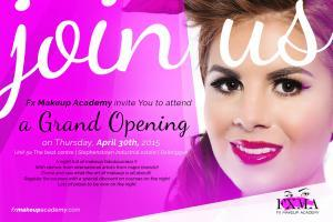 Image of makeup academy invite